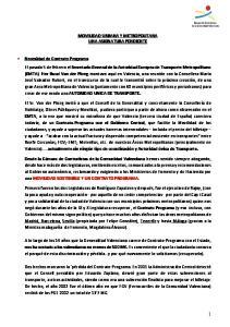 MOVILIDAD URBANA Y METROPOLITANA UNA ASIGNATURA PENDIENTE