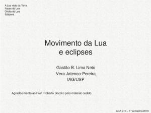 Movimento da Lua e eclipses