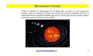Movimiento Circular.  1