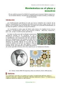 Movimientos en el plano y mosaicos
