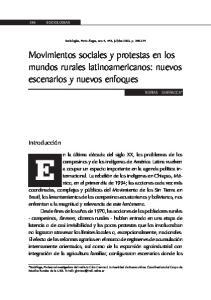 Movimientos sociales y protestas en los mundos rurales latinoamericanos: nuevos escenarios y nuevos enfoques