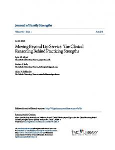 Moving Beyond Lip Service: The Clinical Reasoning Behind Practicing Strengths