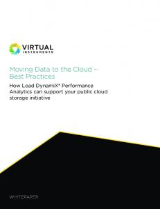 Moving Data to the Cloud Best Practices