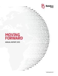MOVING FORWARD ANNUAL REPORT batelcogroup.com