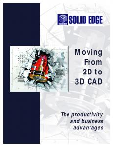 Moving From 2D to 3D CAD