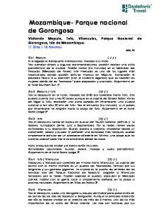 Mozambique- Parque nacional de Gorongosa