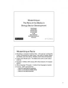 Mozambique: The Role of the Media in Energy Sector Development