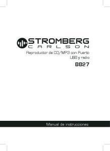MP3 con Puerto USB y radio BB27. Manual de instrucciones