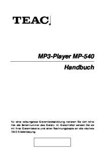 MP3-Player MP-540 Handbuch