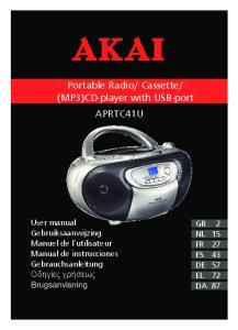 (MP3)CD-player with USB-port APRTC41U
