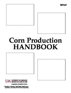 MP437 Corn Production HANDBOOK