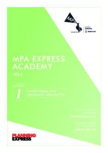 MPA EXPRESS ACADEMY 2014