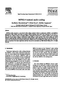MPEG-4 natural audio coding