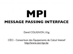 MPI MESSAGE PASSING INTERFACE