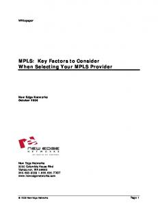 MPLS: Key Factors to Consider When Selecting Your MPLS Provider