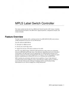 MPLS Label Switch Controller