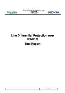 MPLS. Test Report
