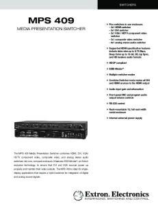 MPS 409. media presentation switcher