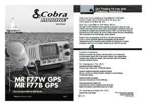 MR F77W GPS MR F77B GPS