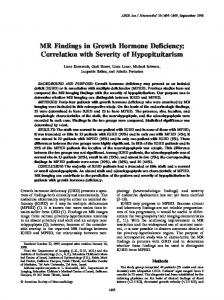 MR Findings in Growth Hormone Deficiency: Correlation with Severity of Hypopituitarism