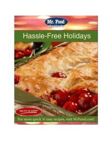 Mr. Food Hassle-Free Holidays ecookbook