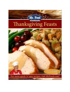 Mr. Food Thanksgiving Feasts ecookbook
