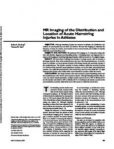 MR Imaging of the Distribution and Location of Acute Hamstring Injuries in Athletes