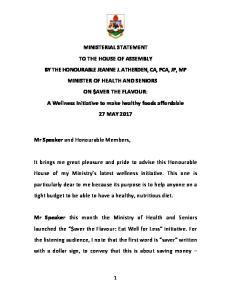 Mr Speaker and Honourable Members,