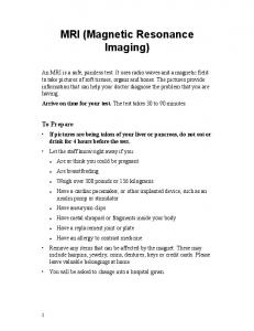 MRI (Magnetic Resonance Imaging)