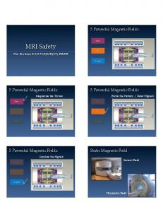 MRI Safety. 3 Powerful Magnetic Fields. 3 Powerful Magnetic Fields. 3 Powerful Magnetic Fields. 3 Powerful Magnetic Fields. Static Magnetic Field