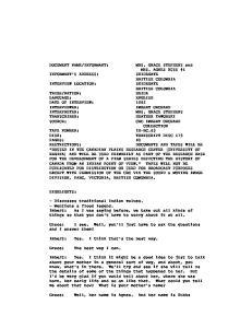 MRS. AGNES RUSS #1 DISK: TRANSCRIPT DISC 179 PAGES: 40