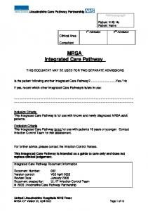 MRSA Integrated Care Pathway