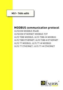 MS ed04 MODBUS communication protocol