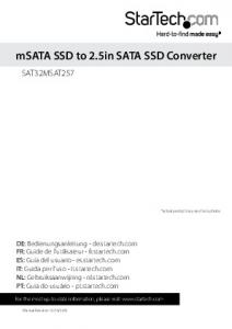 msata SSD to 2.5in SATA SSD Converter