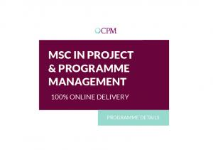 MSC IN PROJECT & PROGRAMME MANAGEMENT