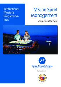 MSc in Sport Management