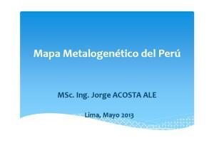 MSc. Ing. Jorge ACOSTA ALE. Lima, Mayo 2013