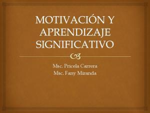 Msc. Pricela Carrera Msc. Fany Miranda