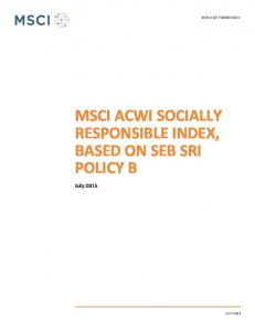 MSCI ACWI SOCIALLY RESPONSIBLE INDEX, BASED ON SEB SRI POLICY B