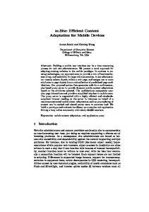 m.site: Efficient Content Adaptation for Mobile Devices