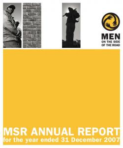 MSR ANNUAL REPORT for the year ended 31 December 2007