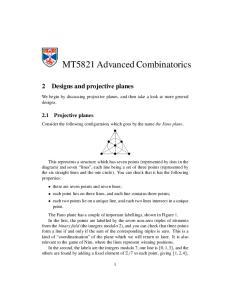 MT5821 Advanced Combinatorics