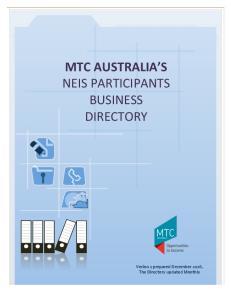 MTC AUSTRALIA S NEIS PARTICIPANTS BUSINESS DIRECTORY
