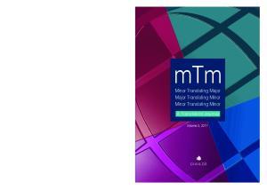 mtm Minor Translating Major Major Translating Minor Minor Translating Minor a Translation Journal volume 3, 2011