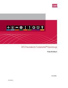 MTS Pneumatische Fundamental -Spannzeuge