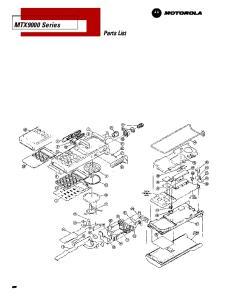 MTX9000 Series Parts List