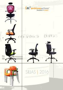 Muebles de trabajo SILLAS 2016