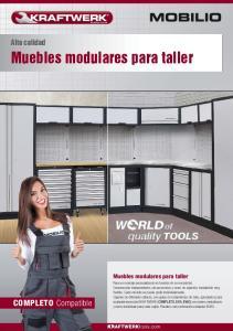 Muebles modulares para taller