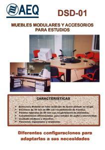 MUEBLES MODULARES Y ACCESORIOS PARA ESTUDIOS CARACTERISTICAS