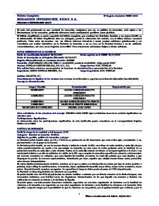 MUGARDOS INVERSIONES, SICAV, S.A. MUGARDOS INVERSIONES SICAV